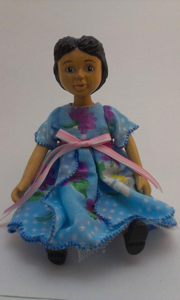 OOAK CUSTOM #Hitty Blue Hanky Dress with Crinoline FREE SHIPPING $22