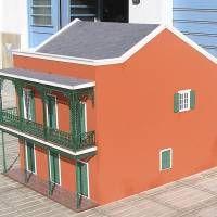 Houseland Parque Temático. Vivienda tradicional Nueva Orleans (EE.UU).