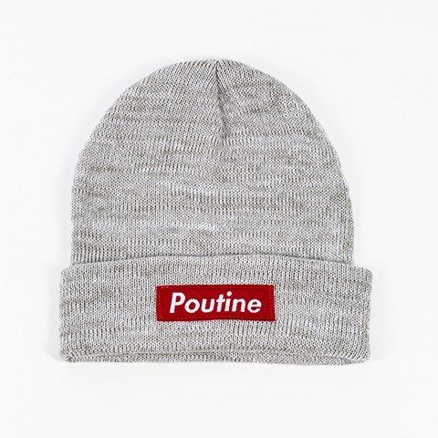 Shout your love from the roof... of your head! #Poutine #Beanie #GiftIdeas #Canada http://giftideascanada.com/poutine-beanie-grey/