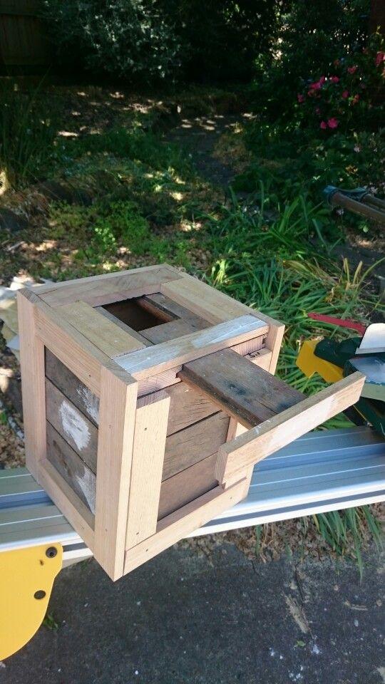 A crate geocache.