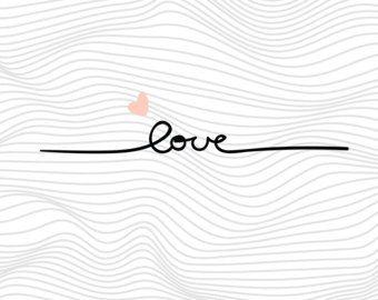 Amor archivos Svg Svg de San Valentín, citar refranes Svg, fuente Svg, Svg para silueta, Svg para Cricut Vector, etiqueta de vinilo de corte Svg Svg monograma