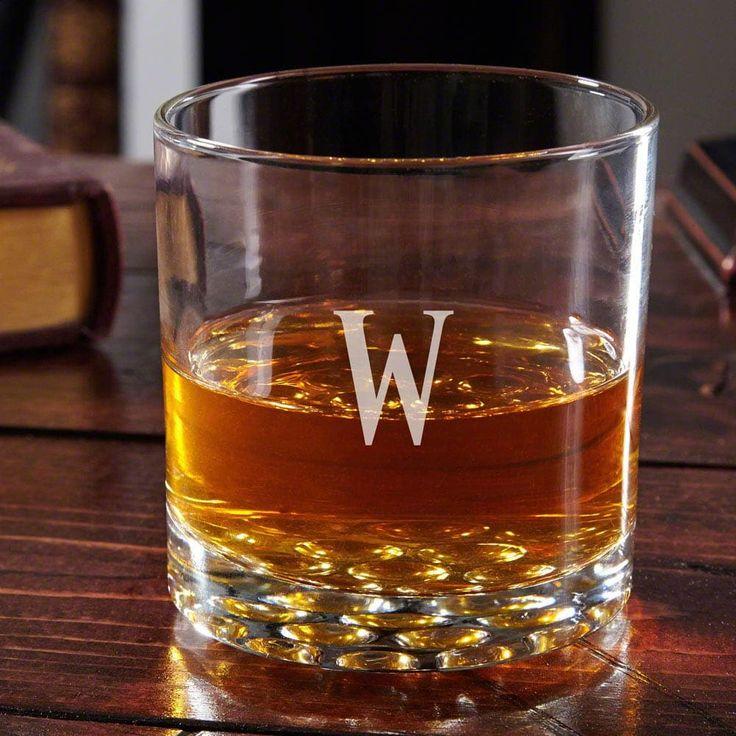 Buckman Personalized Old Fashioned Glass (No Monogram), Black