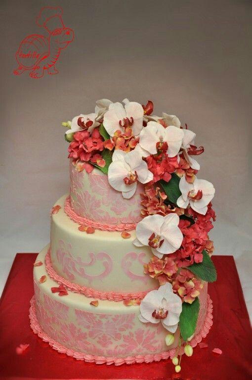 """Свадебный торт """"Орхидея"""""""