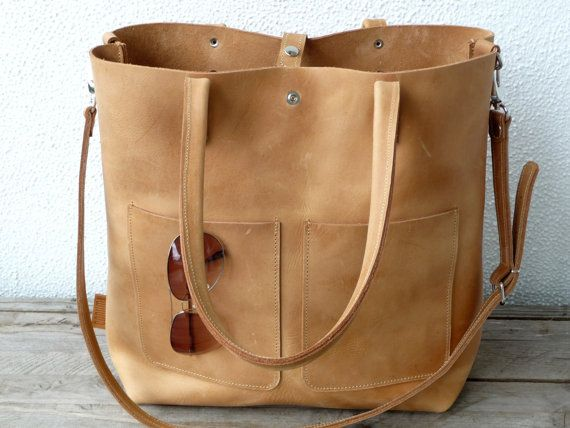 Best 10  Leather totes ideas on Pinterest | Leather tote bags ...