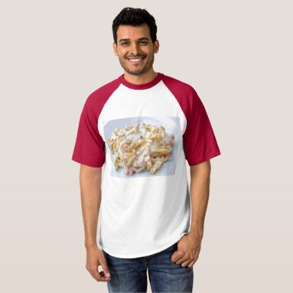 Pasta Custom Food Photo T-shirt - pattern sample design template diy cyo customize