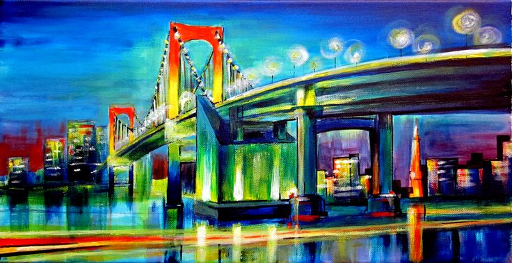 Rainbow Bridge - Tokyo, Japan (50 cm x 25 cm)