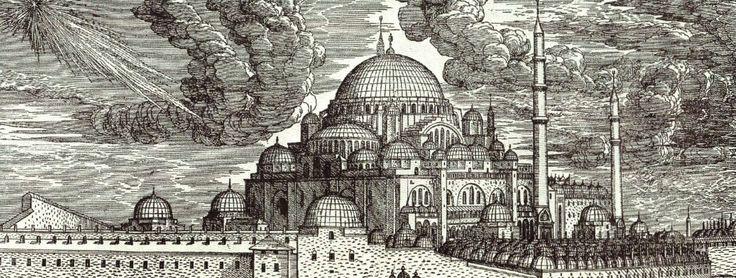 <3 İSTANBUL <3  (Henüz birkaç yıl önce bitmiş olan Süleymaniye Külliyesinin tahta baskısı- Melchior Lorck)
