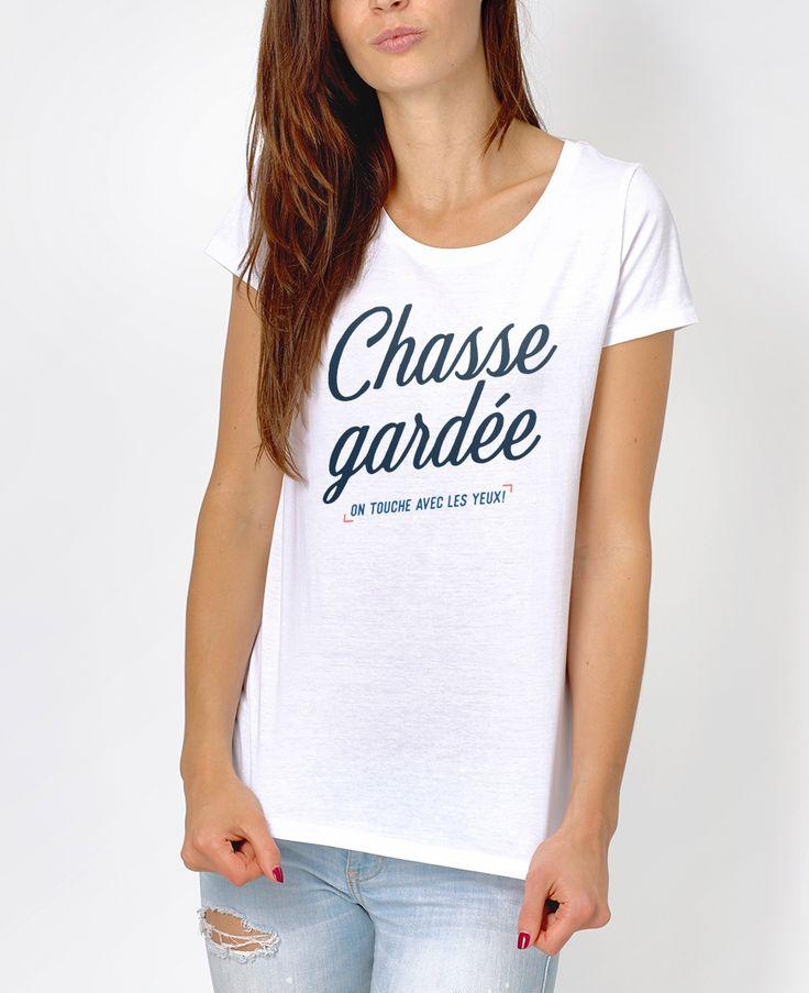 T-shirt Femme Chasse Gardée Blanc by Madame TSHIRT