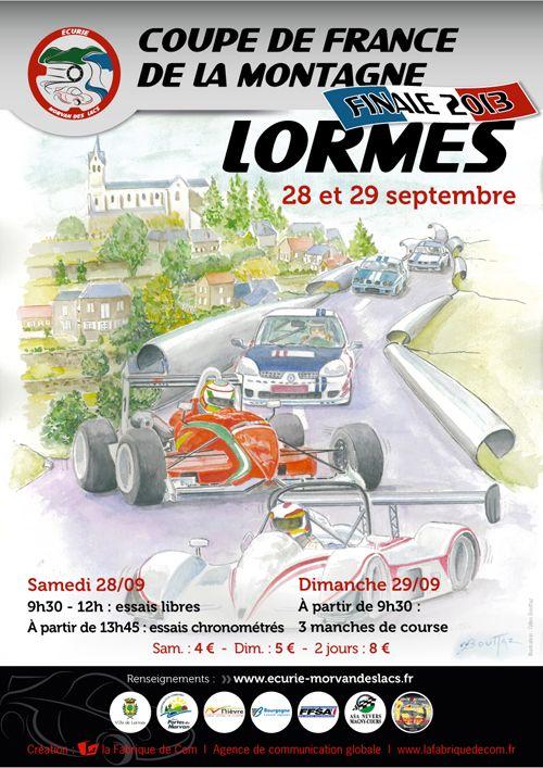 Course de côte de Lormes. Du 28 au 29 septembre 2013 à Lormes.