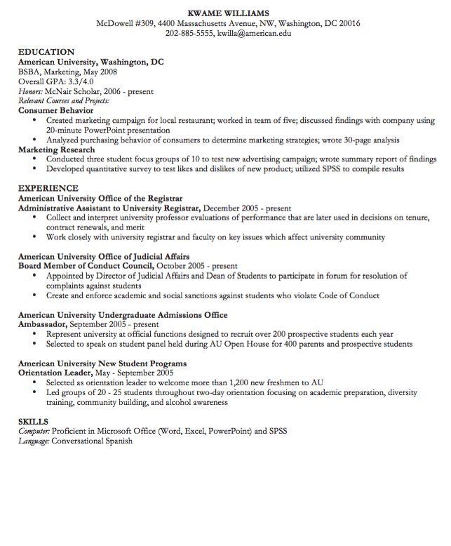 Administrative Assistant CV Samples -    resumesdesign - university registrar sample resume