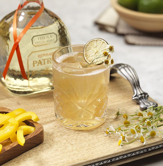 Enjoy The Bell of Jalisco, a cocktail made with Patrón Reposado.