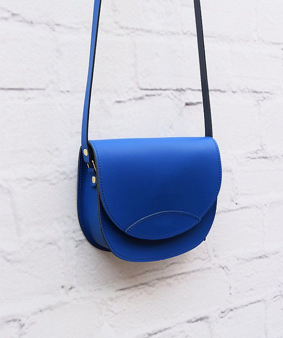 Leather Bag Blue Bag Handmade Leather Bag Leather by ARTonomousgr