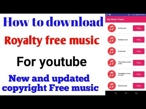 how to download royalty free music for youtube videos and