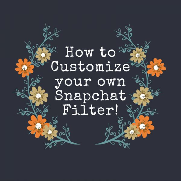 A custom snapchat filter is the perfect way to add a personal touch to your wedding!
