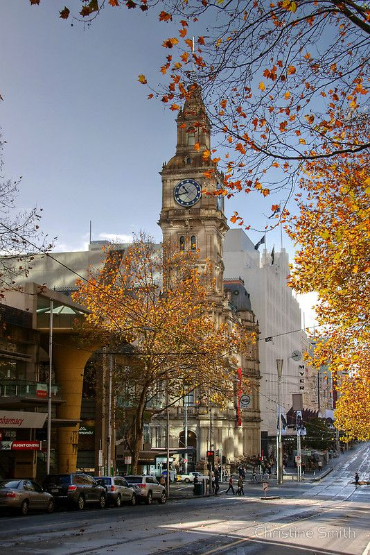 A Quiet Sunday Morning in Bourke Street by Christine Smith Melbourne Australia