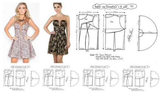 Como hacer vestidos para dama con moldes