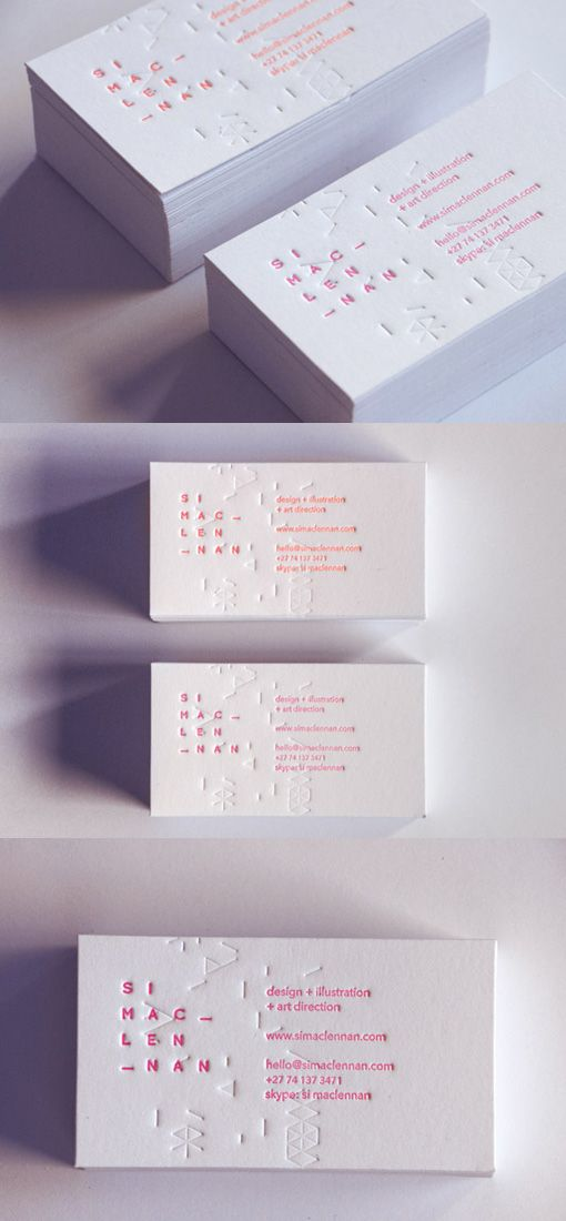corporate business card on white letterpress with a unique touch of design …