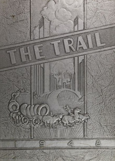"1948 ""Trail"" yearbook cover from Norman High School in Norman, Oklahoma.    #1948 #norman #yearbook #yearbookCover"