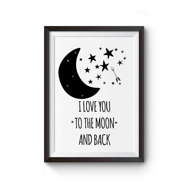 Gender neutral Nursery art I Love You To The Moon and Back Printable Nursery Wall Art Poster Instant Download, Nursery Printable nursery art