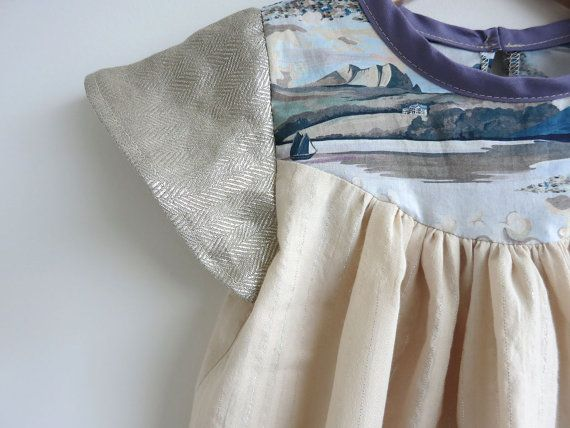 seashore detail girls' dress by swallowsreturn on Etsy