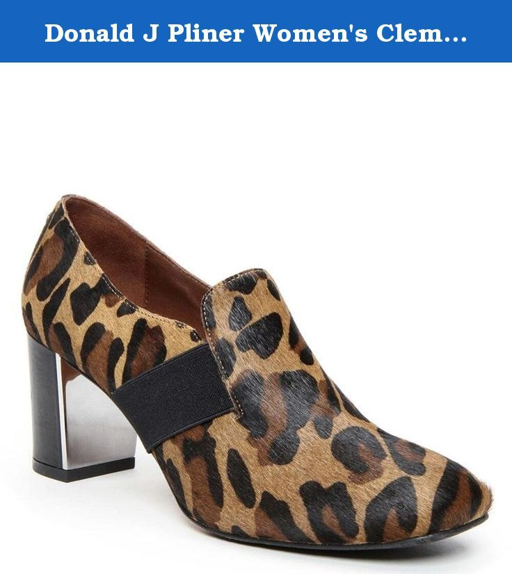 Donald J Pliner Women's Clem-A9 Dress Pump, Leopard Print Haircalf, 10 M US. The Donald J Pliner Clem Dress Shoes feature a Leather upper with a Square Toe . The Rubber outsole lends lasting traction and wear.