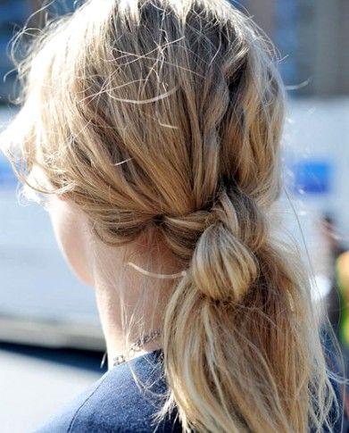 пучек из волос - узлы