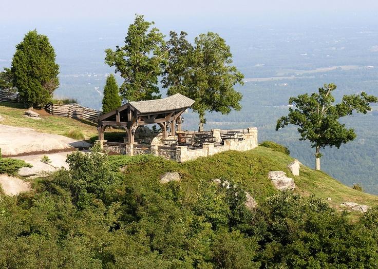 The Pavilion At Cliffs Glassy Chapel Landrum SC Mountaintop Wedding