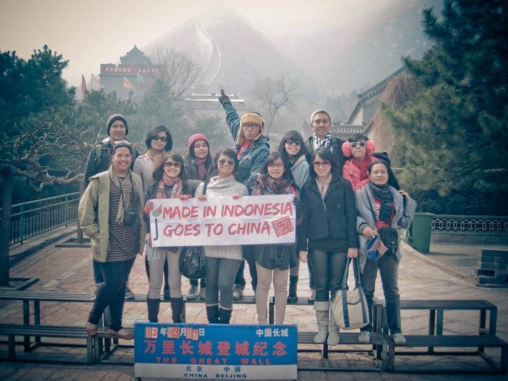 Juara at great wall, china