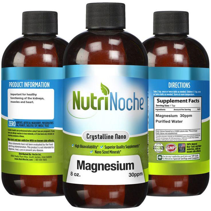 The BEST Magnesium Supplement - Nano Sized 30 PPM Liquid Magnesium by NutriNoche #NutriNoche