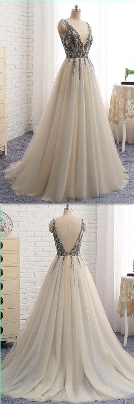 Awesome V-Neck Sweet 16 Party Prom Dress,Long Prom Dresses,Prom Dresses,Evening Dress, P…