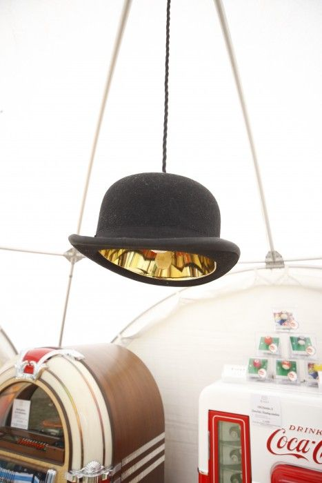 Bowler Hat Pendant Light. Very dapper and perfect for a games room!