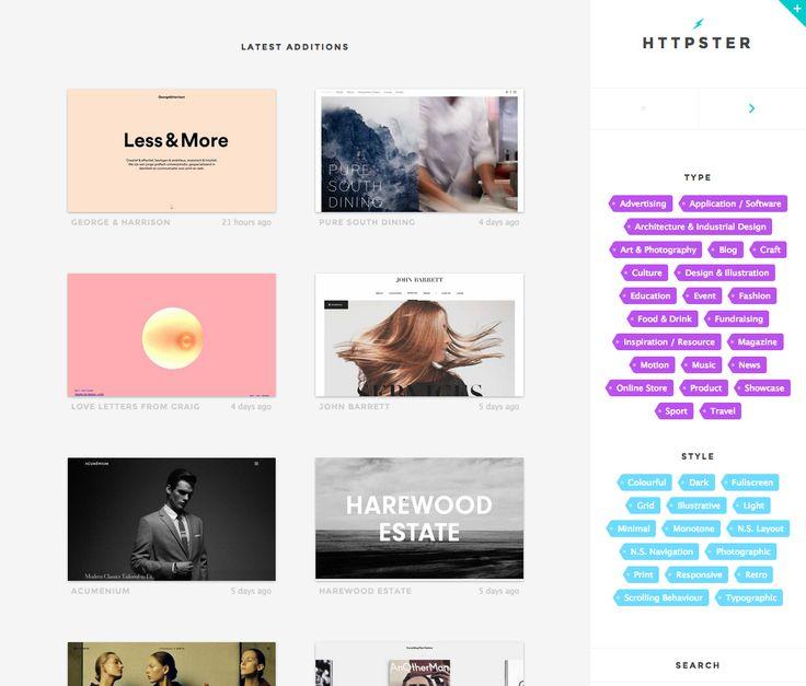 Httpster is a showcase of damn hot website design.