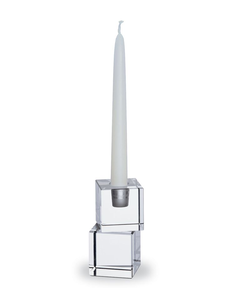 Baccarat crystal two cubes candlestick 2600464