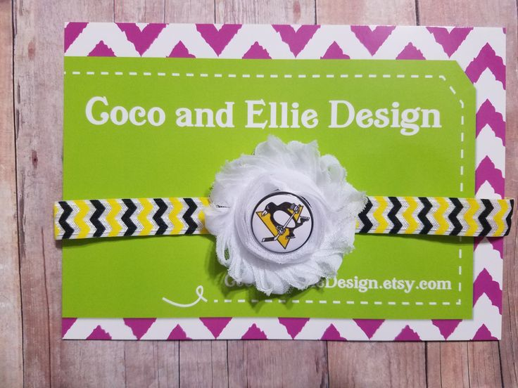 NHL pittsburgh penguins headband-penguin headband-penguin hockey headband-baby girl pittsburgh penguins-pittsburgh penguins hockey headband by CocoandEllieDesign on Etsy