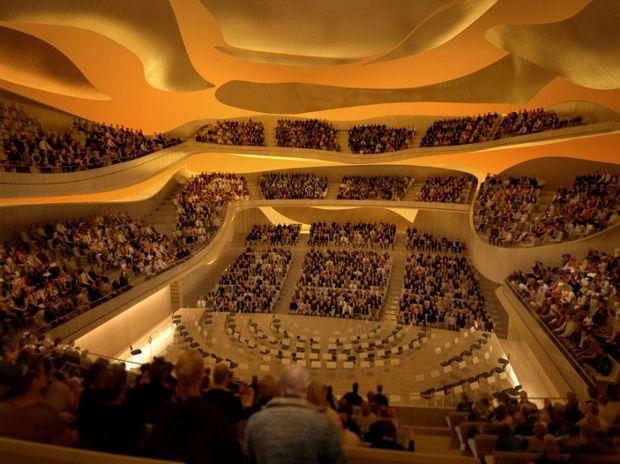 architect's representation of the Philharmonie de Paris