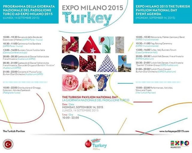 Expo 2015 Milano Blog: September 14, 2015... Turkish Pavilion National da...