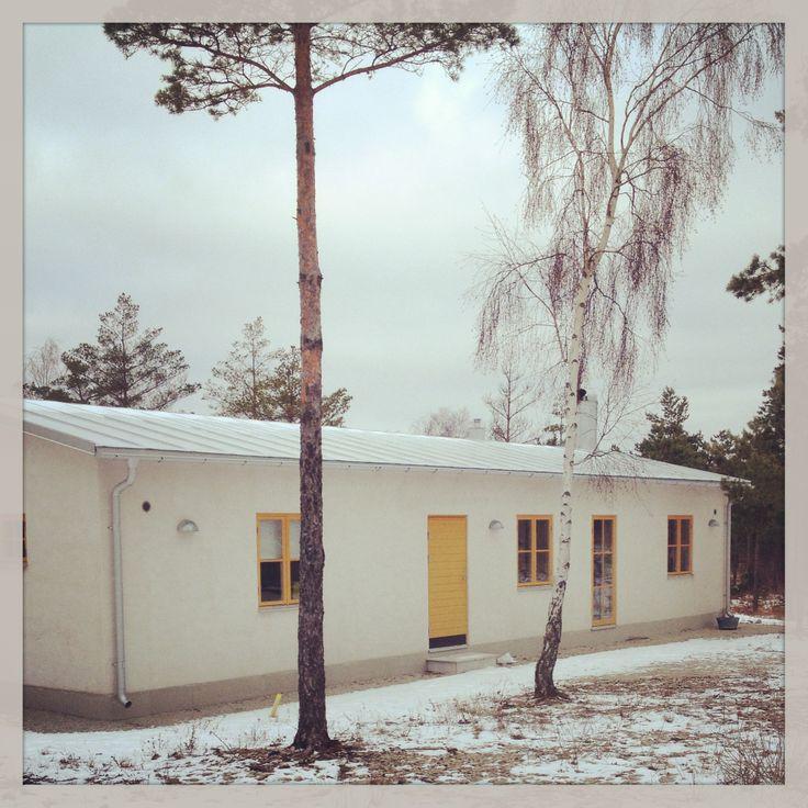 summer house, winter, sommarhus, stenhus, house, puts, nybygge, bygge, gotland, djupvik, vavle, eksta