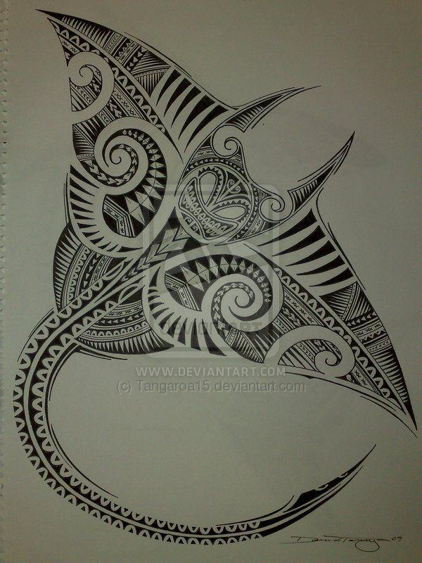 zentangle fish | Polynesian Manta Ray by ~Tangaroa15 on deviantART