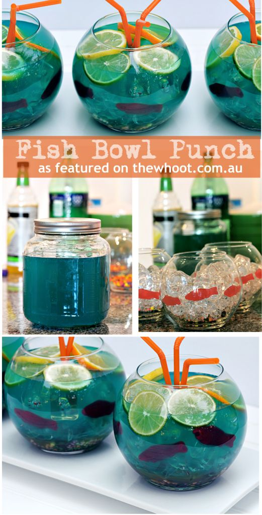 fish bowl punch....Koren, I will take one of these for breakfast, start Thanksgiving the right way! LOL