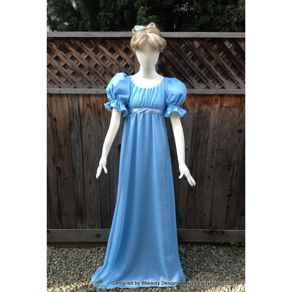 Wendy Darling Peter Pan Couture Costume Nightgown Adult Cosplay... ($350) ❤ liked on Polyvore featuring costumes, dresses, role play costumes, adult princess costume, party halloween costumes, adult cartoon costumes and party costumes