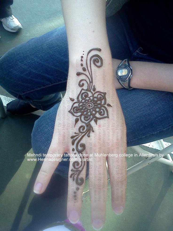 Simple HEnna/ mehandi design on hand done by Jumana of ...