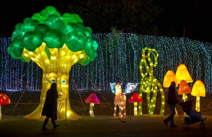 images of global winter wonderland | The eco friendly lanterns glow at the Global Winter Wonderland, the ...