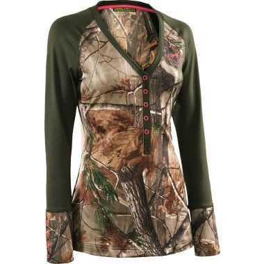 Under Armour® Women's EVO Scent-Control Henley at Cabela's. Yes please.  Have to get this!