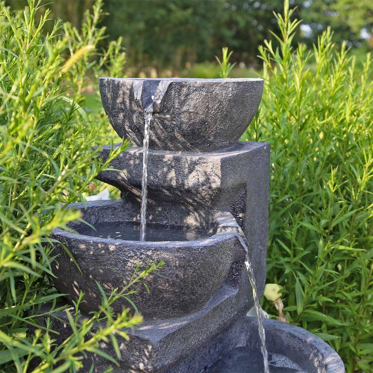 Solarspringbrunnen mit Akku LED Beleuchtung Solarbrunnen für Garten Balkon in Garten & Terrasse, Teiche, Bachläufe und Brunnen, Spring- & Zierbrunnen | eBay!