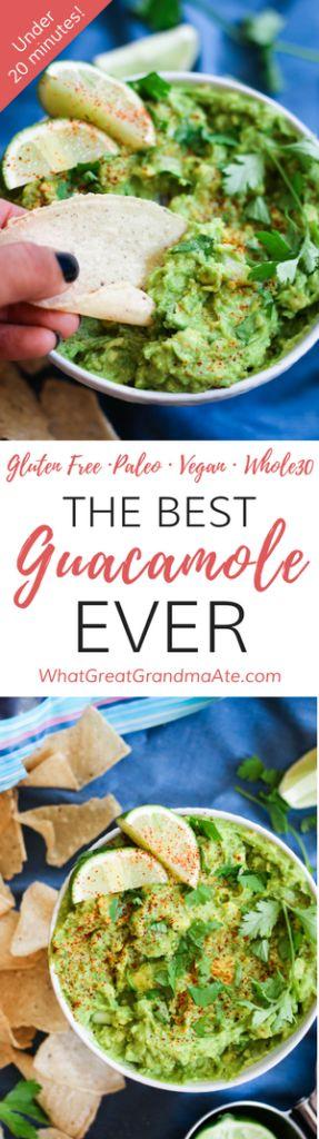 The Best Guacamole Ever (Paleo, Whole30, Vegan)