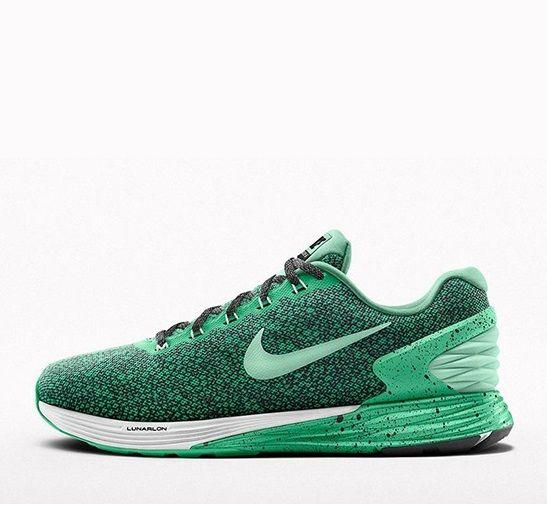 NikeiD Lunarglide 7: Green Speckle