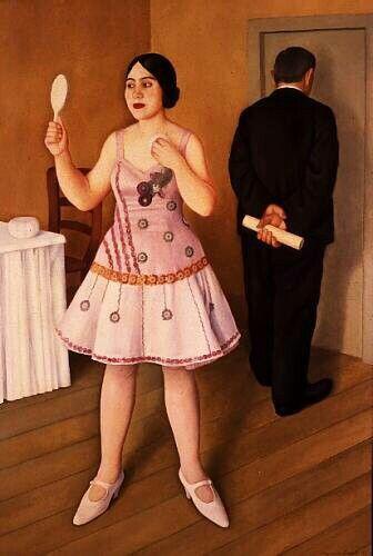 La canzonettista 1925__Antonio Donghi
