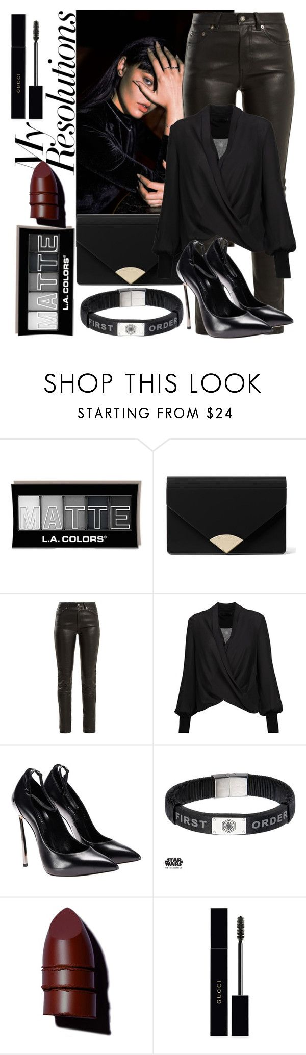 """""""Joining the Dark Side #PolyPresents: New Year's Resolutions"""" by dorasylvia ❤ liked on Polyvore featuring MICHAEL Michael Kors, Yves Saint Laurent, Alice + Olivia, Episode, Anastasia Beverly Hills, Gucci, contestentry and polyPresents"""