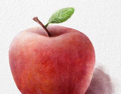 """Check out new work on my @Behance portfolio: """"Illustration numérique - pommes en différents médiums"""" http://be.net/gallery/60625949/Illustration-numrique-pommes-en-diffrents-mdiums"""