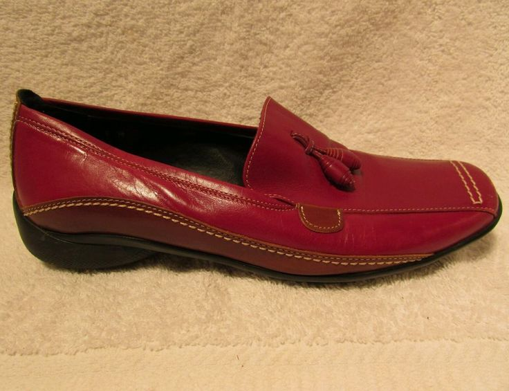 Sz 6 M Sesto Muecci Red Loafers   eBay